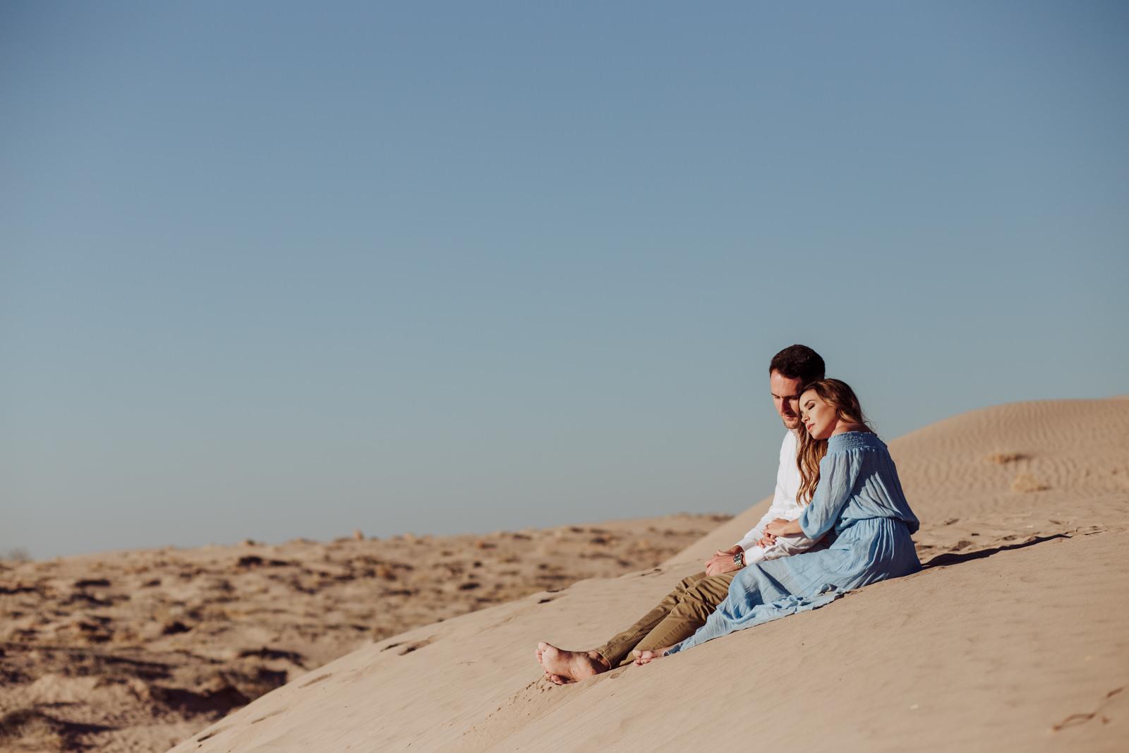sesión de fotos en las dunas de bilbao